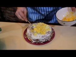 Печёночный Торт Домашний Рецепт (Очень Вкусный), Liver Cake