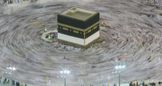 паломники вокруг одной из главных мусульманских святынь