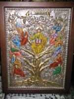 Икона ручной работы греческих монахов с горы Афона. Освящается в Иерусалиме. Дается сертификат