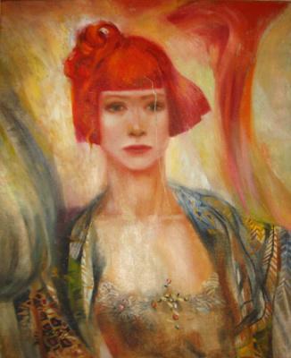 КРАСНЫЙ ВЕТЕР, картина, автор Ксения Декова