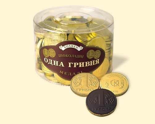 Шоколадки в виде монеты