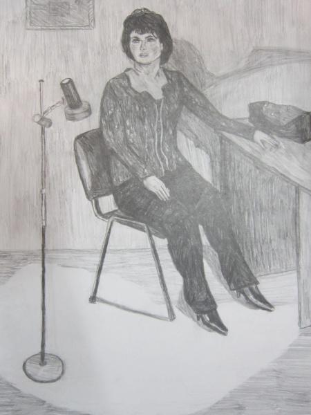 рисунок с натуры, автор Гаврилов Кирилл 12 лет